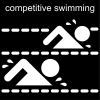 competitive swimming Pictogram