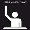 raise one's hand Pictogram