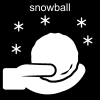 snowball Pictogram