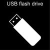 USB flash drive Pictogram