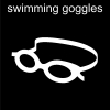 swimming goggles Pictogram
