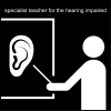 specialist teacher for the hearing impaired Pictogram