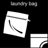 laundry bag Pictogram
