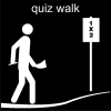 quiz walk Pictogram