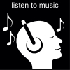 listen to music Pictogram