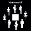 teamwork Pictogram