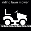 riding lawn mower Pictogram