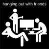 hanging out with friends Pictogram