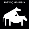 mating animals Pictogram