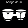 bongo drum Pictogram