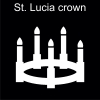 St. Lucia crown Pictogram
