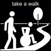 take a walk Pictogram