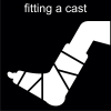 fitting a cast Pictogram