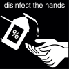 disinfect the hands Pictogram