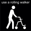 use a rolling walker Pictogram