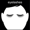 eyelashes Pictogram