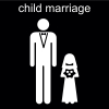 child marriage Pictogram