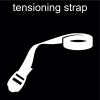 tensioning strap Pictogram