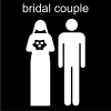 bridal couple Pictogram