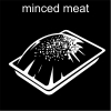 minced meat Pictogram