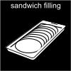 sandwich filling Pictogram