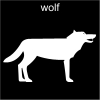 wolf Pictogram