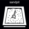 sandpit Pictogram