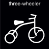 three-wheeler Pictogram