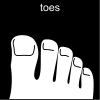 toes Pictogram