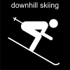 downhill skiing Pictogram