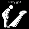 crazy golf Pictogram