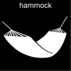 hammock Pictogram