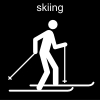 skiing Pictogram