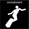 snowboard Pictogram