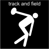 track and field Pictogram