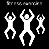 fitness exercise Pictogram