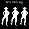 line dancing Pictogram