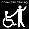 wheelchair dancing Pictogram
