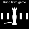Kubb lawn game Pictogram