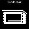 windbreak Pictogram