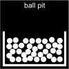 ball pit Pictogram