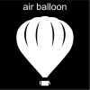 air balloon Pictogram