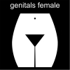 genitals female Pictogram