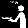 hungry Pictogram