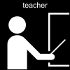 teacher Pictogram