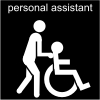 personal assistant Pictogram