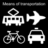 Means of transportation Pictogram