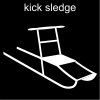 kick sledge Pictogram