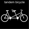 tandem bicycle Pictogram