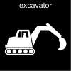 excavator Pictogram